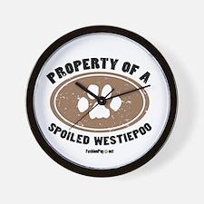 Westiepoo dog Wall Clock