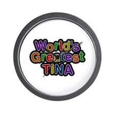 World's Greatest Tina Wall Clock