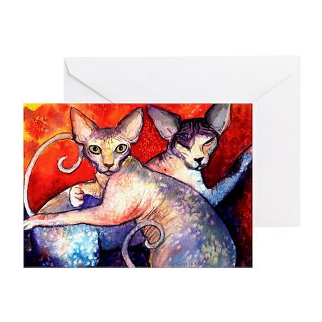 Sphynx cat 8 Greeting Cards (Pk of 10)