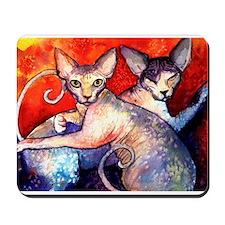 Sphynx cat 8  Mousepad