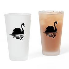 Black Swan Silhoutte Drinking Glass