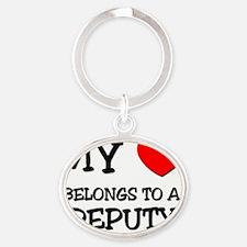 DEPUTY124 Oval Keychain