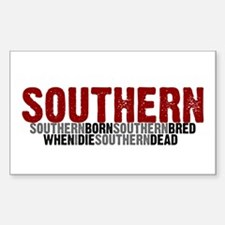 SOUTHERN BORN Rectangle Decal