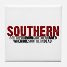 SOUTHERN BORN Tile Coaster
