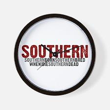 SOUTHERN BORN Wall Clock