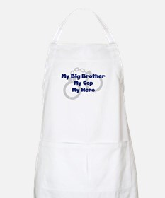 My Big Brother My Cop BBQ Apron