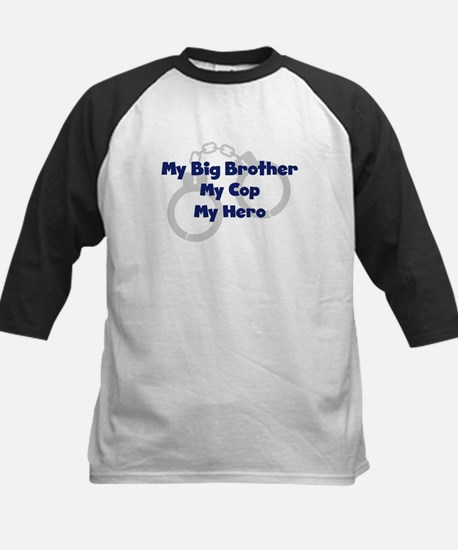 My Big Brother My Cop Kids Baseball Jersey