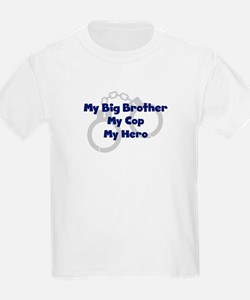 My Big Brother My Cop Kids T-Shirt