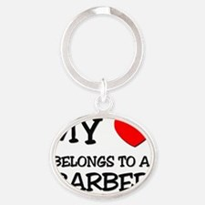 BARBER43 Oval Keychain