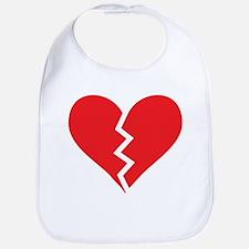 Red Broken Heart Bib