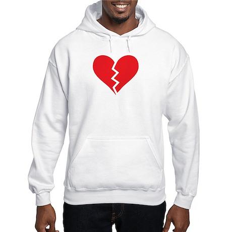 Red Broken Heart Hooded Sweatshirt