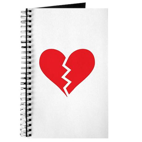 Red Broken Heart Journal