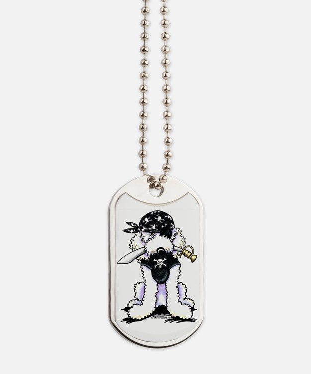 Poodle Pirate Dog Tags