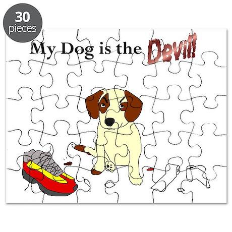 Angel Devil Dog Back Puzzle