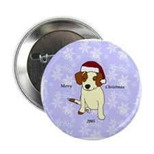 "Beagle Mix Ornament 2.25"" Button"