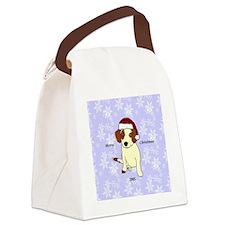 Beagle Mix Ornament Canvas Lunch Bag