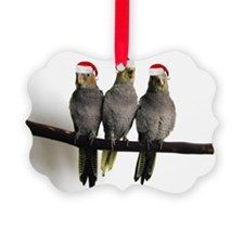 holiday_3cockatiels Ornament