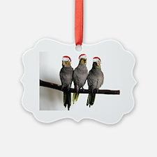 holiday_3cockatiels Ornament