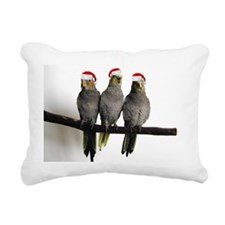holiday_3cockatiels Rectangular Canvas Pillow
