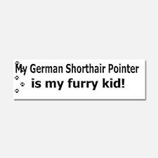 furrykid_germanshorthair Car Magnet 10 x 3