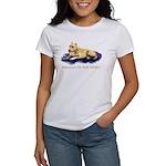 Pitbull Terrier Painting Violet Women's T-Shirt