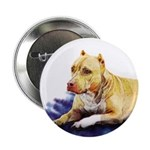Pitbull Terrier Painting Violet Button