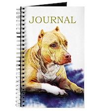 Pitbull Terrier Painting Violet Journal