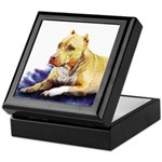Pitbull Terrier Painting Violet Keepsake Box