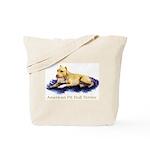 Pitbull Terrier Painting Violet Tote Bag