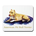 Pitbull Terrier Painting Violet Mousepad