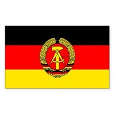 East Germany Rectangle Decal