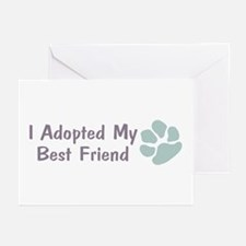I Adopted My Best Friend Greeting Cards (Package o