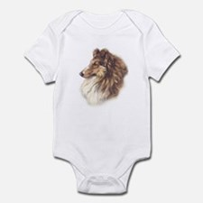 Vintage Sable Collie Infant Creeper