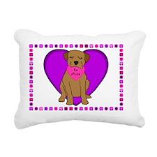 valentine_borderterrier_ Rectangular Canvas Pillow