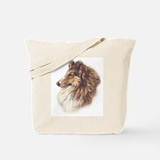 Vintage Sable Collie Tote Bag