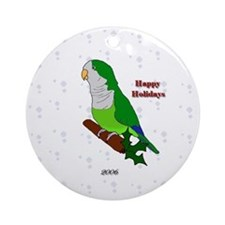 2006 Green Quaker 2 Round Ornament