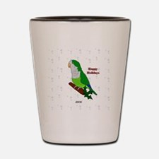 2006 Green Quaker 2 Shot Glass