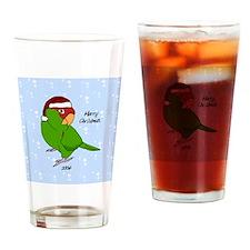 ornament_cherryhead_santa Drinking Glass