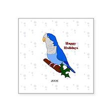 "ornament_quaker2blue Square Sticker 3"" x 3"""