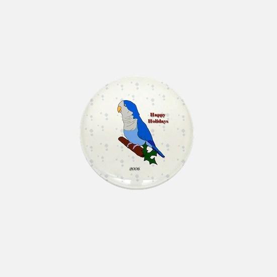 ornament_quaker2blue Mini Button