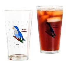ornament_quaker2blue Drinking Glass