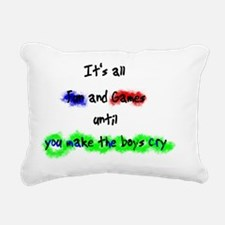 make_boys_cry Rectangular Canvas Pillow
