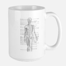 Human Anatomy Chart Large Mug