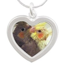cockatiel_postage6 Silver Heart Necklace