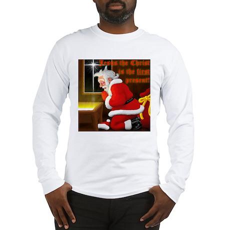 'Santa knelt' Long Sleeve T-Shirt
