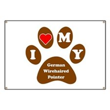 I Heart My German Wirehaired Pointer Banner