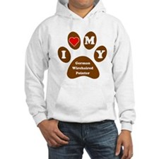I Heart My German Wirehaired Pointer Hoodie
