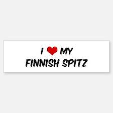 I Love: Finnish Spitz Bumper Bumper Bumper Sticker