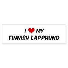 I Love: Finnish Lapphund Bumper Bumper Sticker