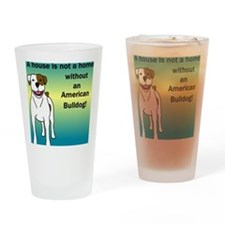 tile_americanbulldog Drinking Glass